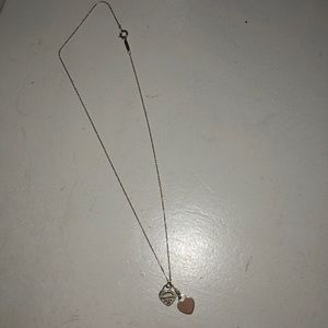 Tiffany and co pink heart necklace (barely worn)